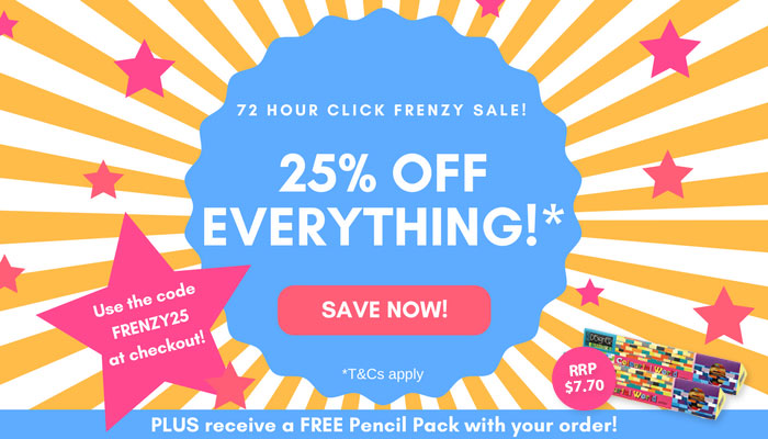 25 off storewide click frenzy sale pascal press click frenzy sale fandeluxe Choice Image