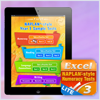 Excel NAPLAN*-style Test Apps