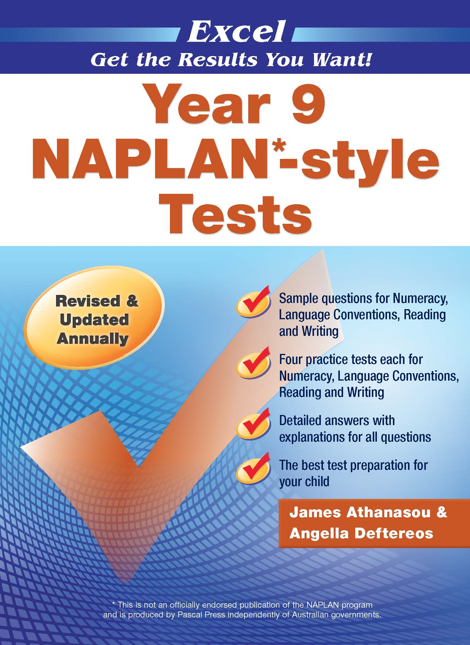 Excel NAPLAN*-style Tests Year 9