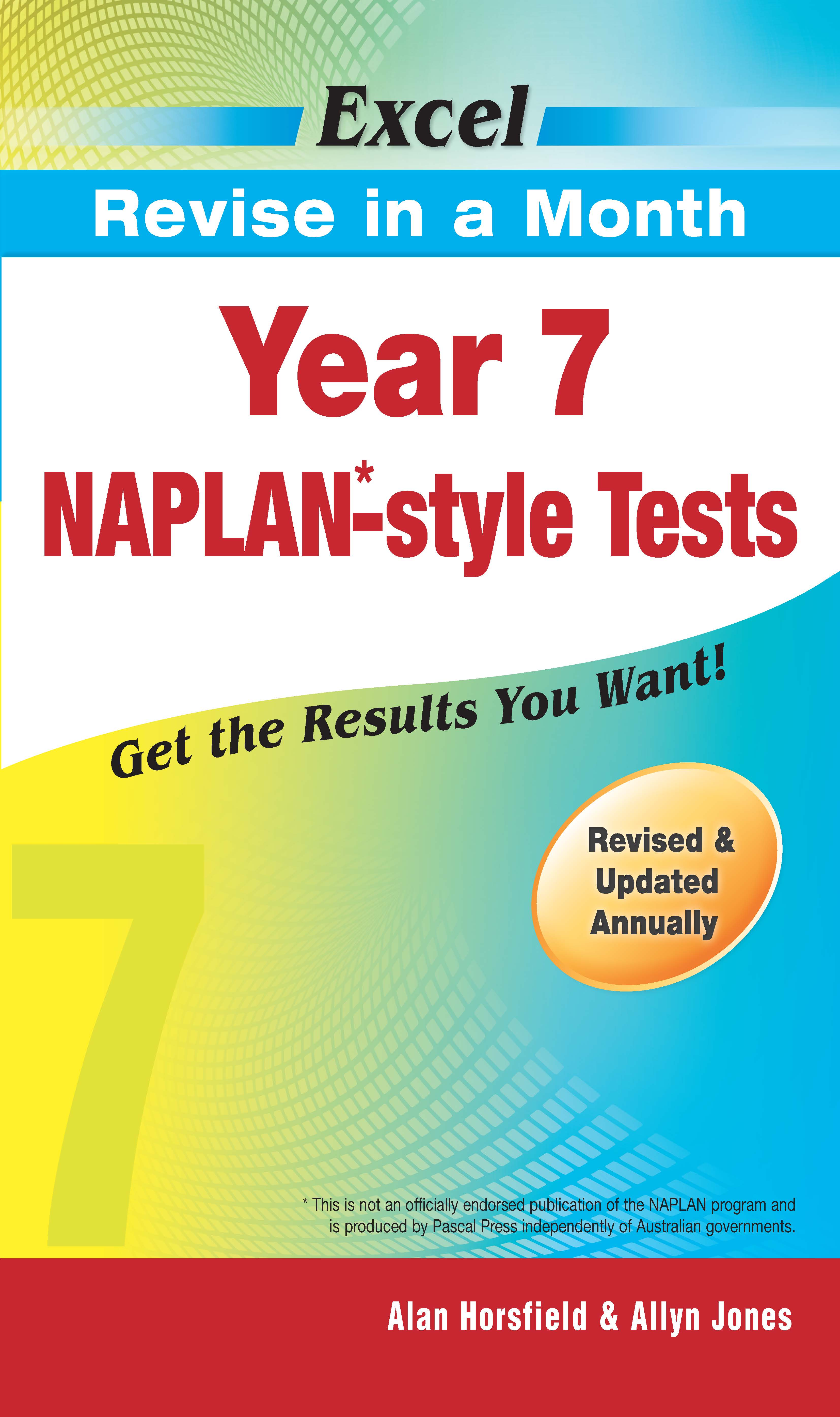 Excel Revise in a Month NAPLAN*-style Tests Year 7