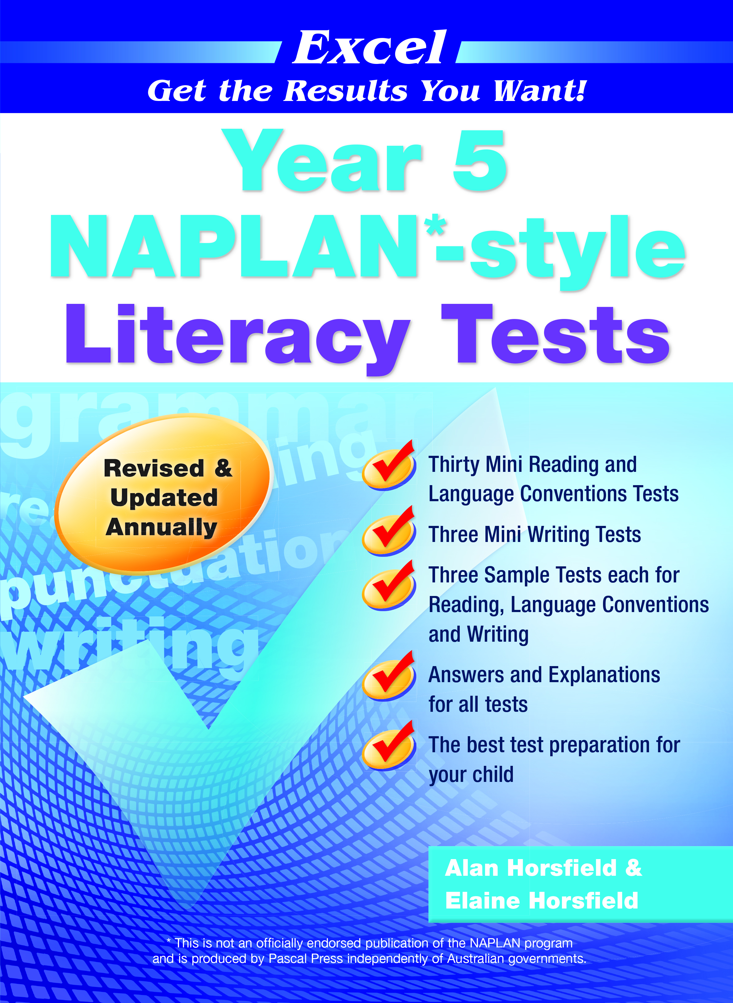 Excel NAPLAN*-style Literacy Tests Year 5