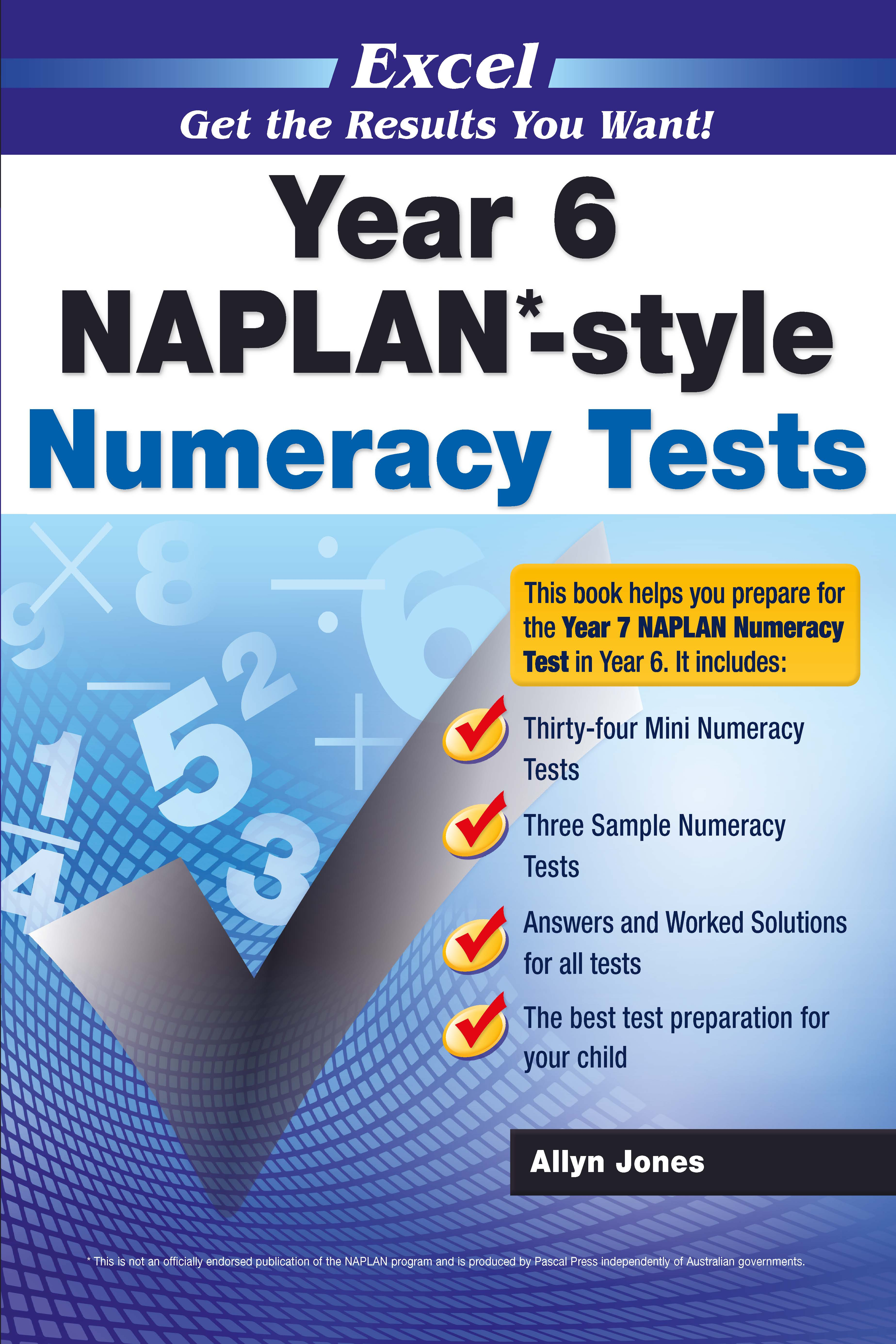 Excel NAPLAN*-style Numeracy Tests Year 6