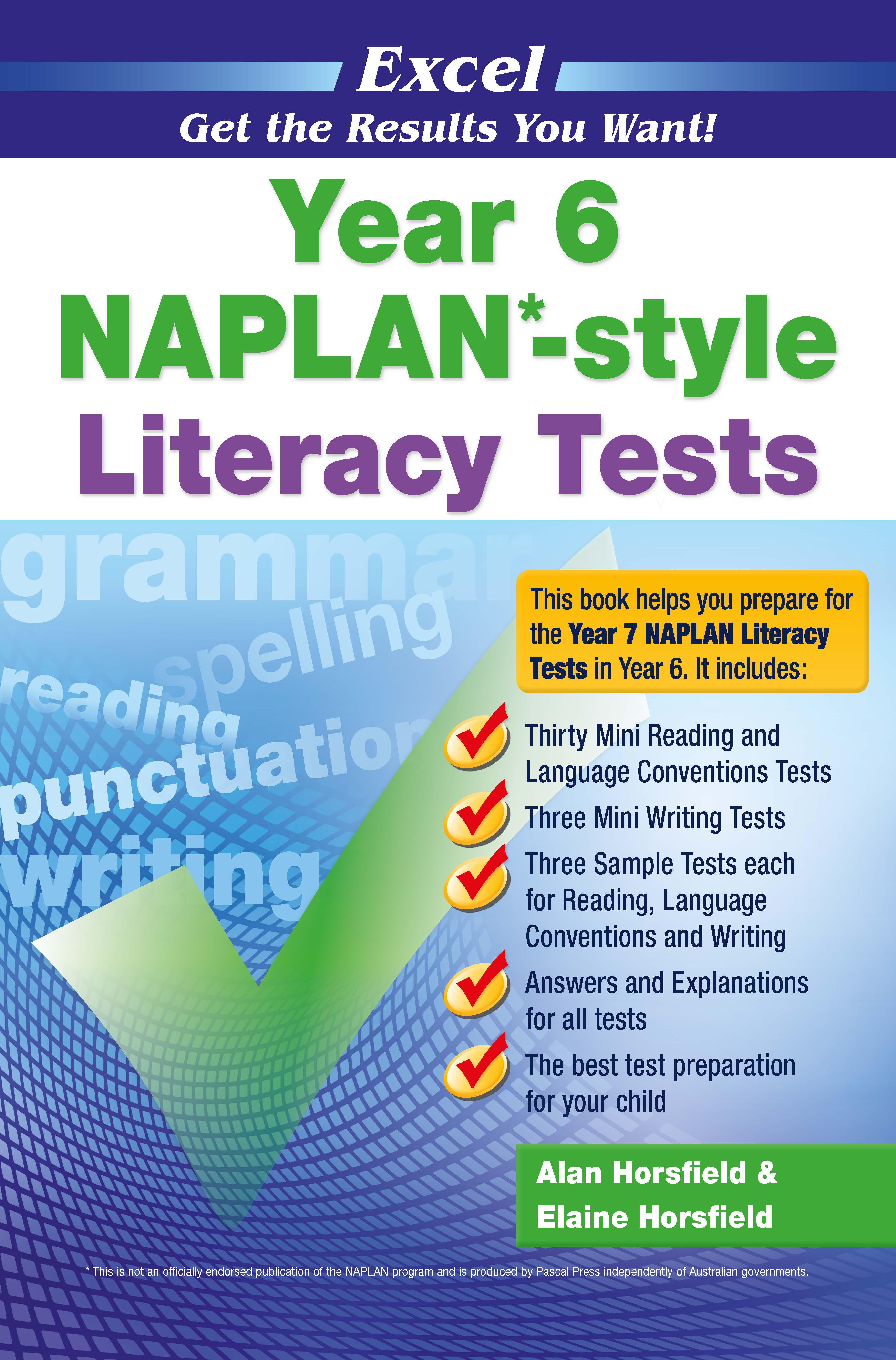 Excel NAPLAN*-style Literacy Tests Year 6
