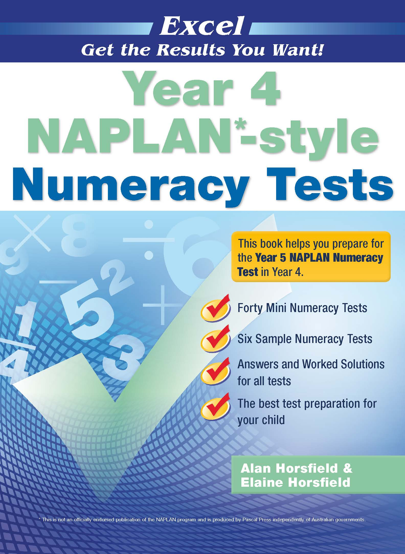 Excel NAPLAN*-style Numeracy Tests Year 4