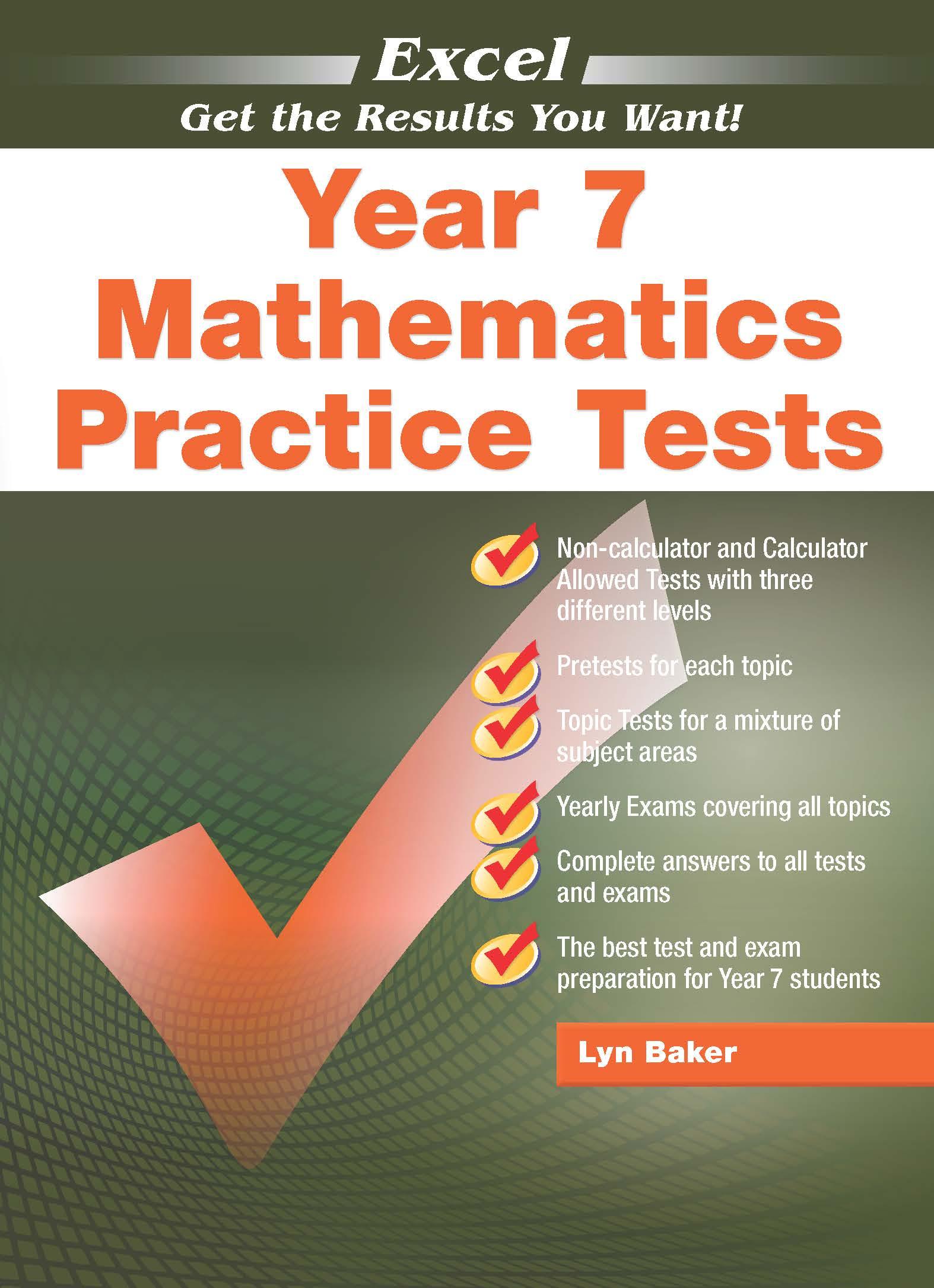 Excel Mathematics Practice Tests Year 7