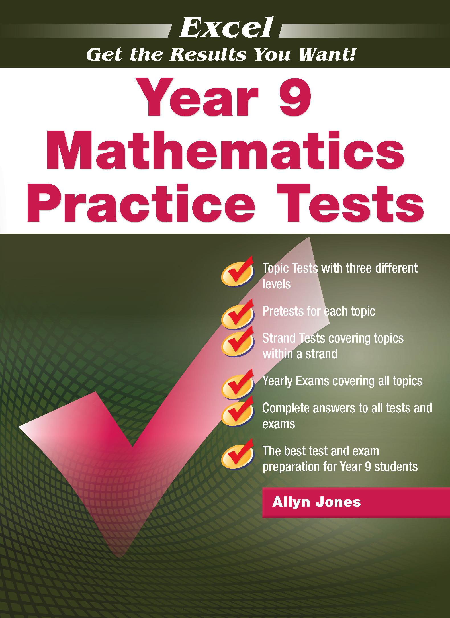 Excel Mathematics Practice Tests Year 9