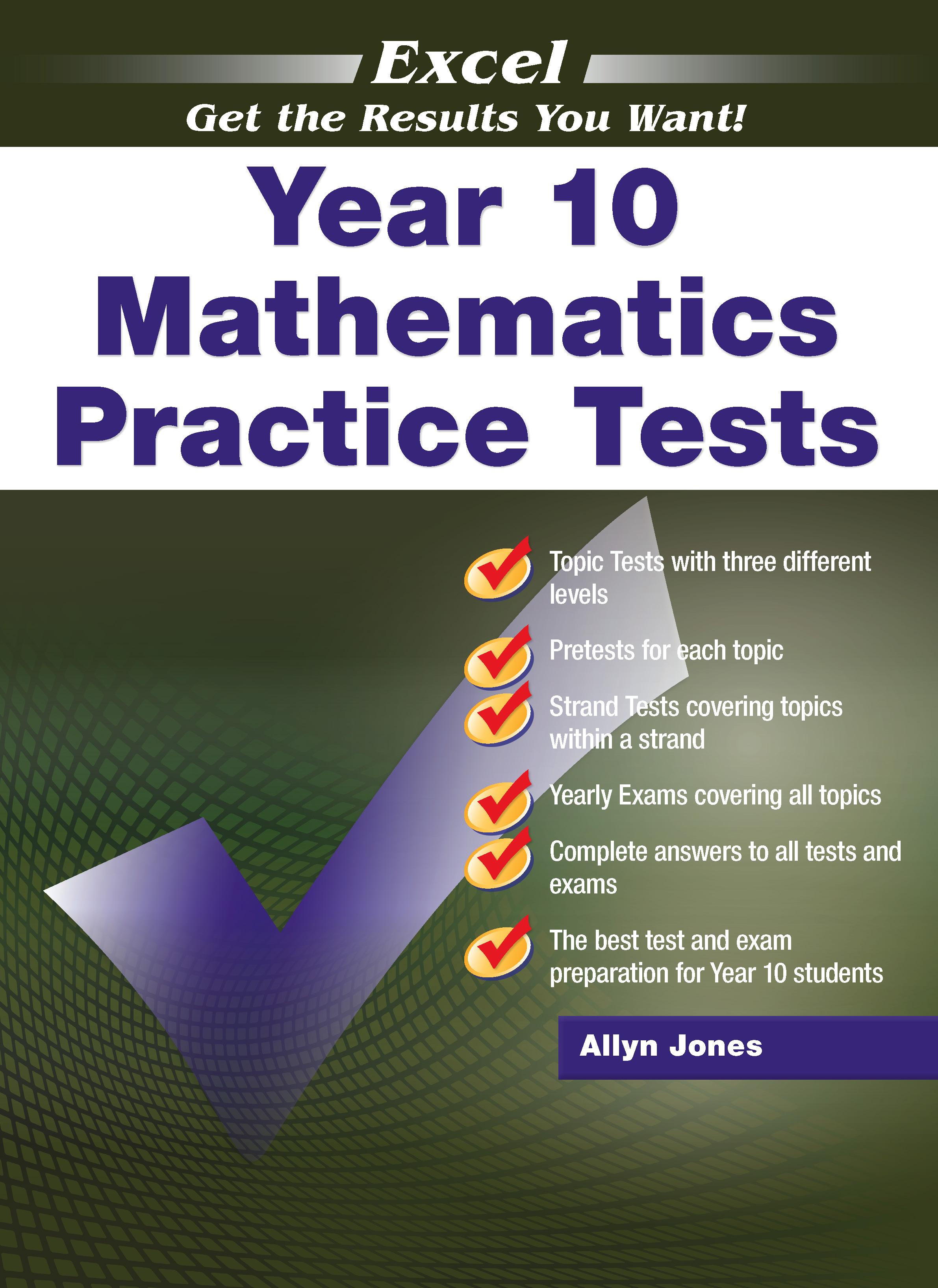 Excel Mathematics Practice Tests Year 10