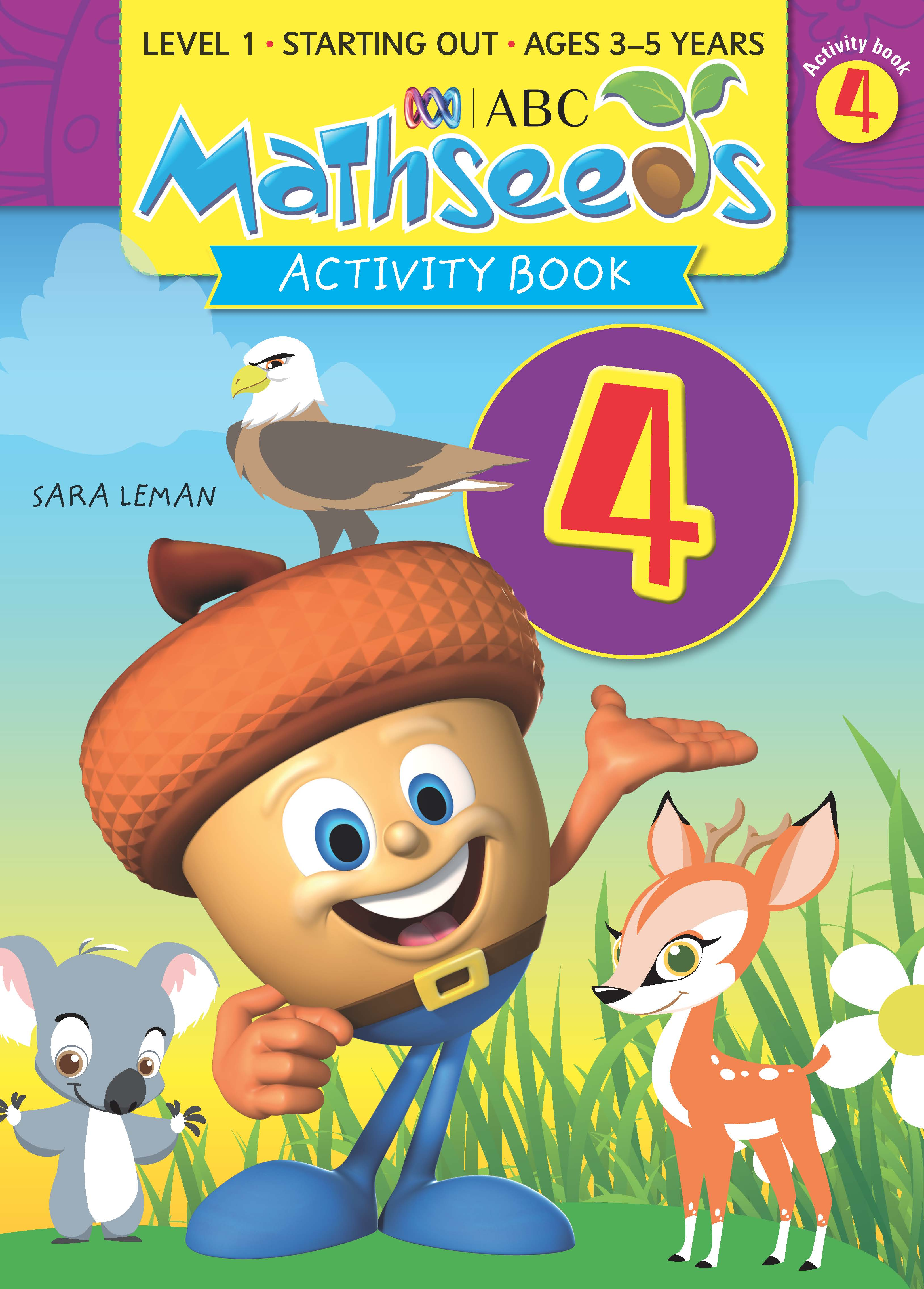 ABC Mathseeds Activity Book 4 Level 1 Ages 3-5