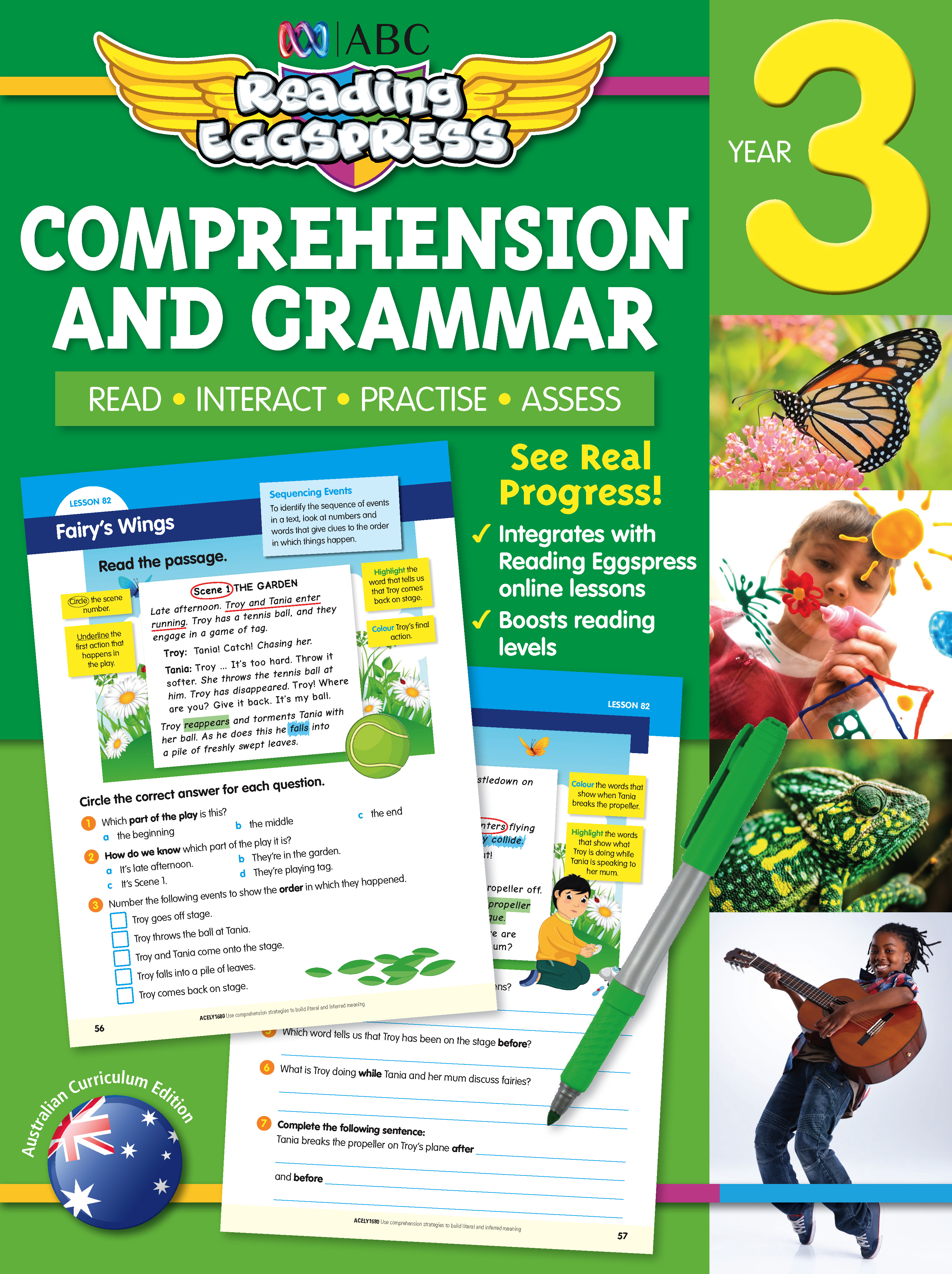ABC Reading Eggspress Comprehension and Grammar Workbook Year 3