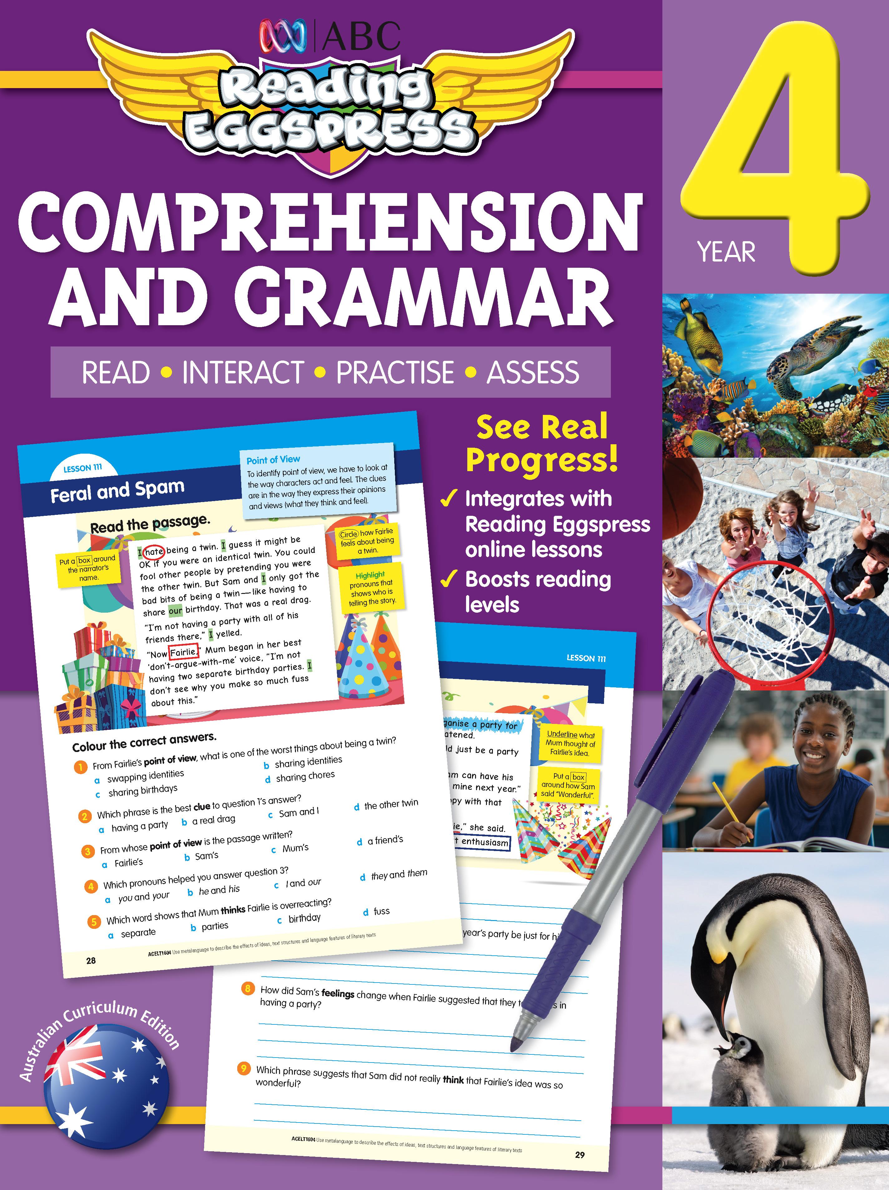 ABC Reading Eggspress Comprehension and Grammar Workbook Year 4