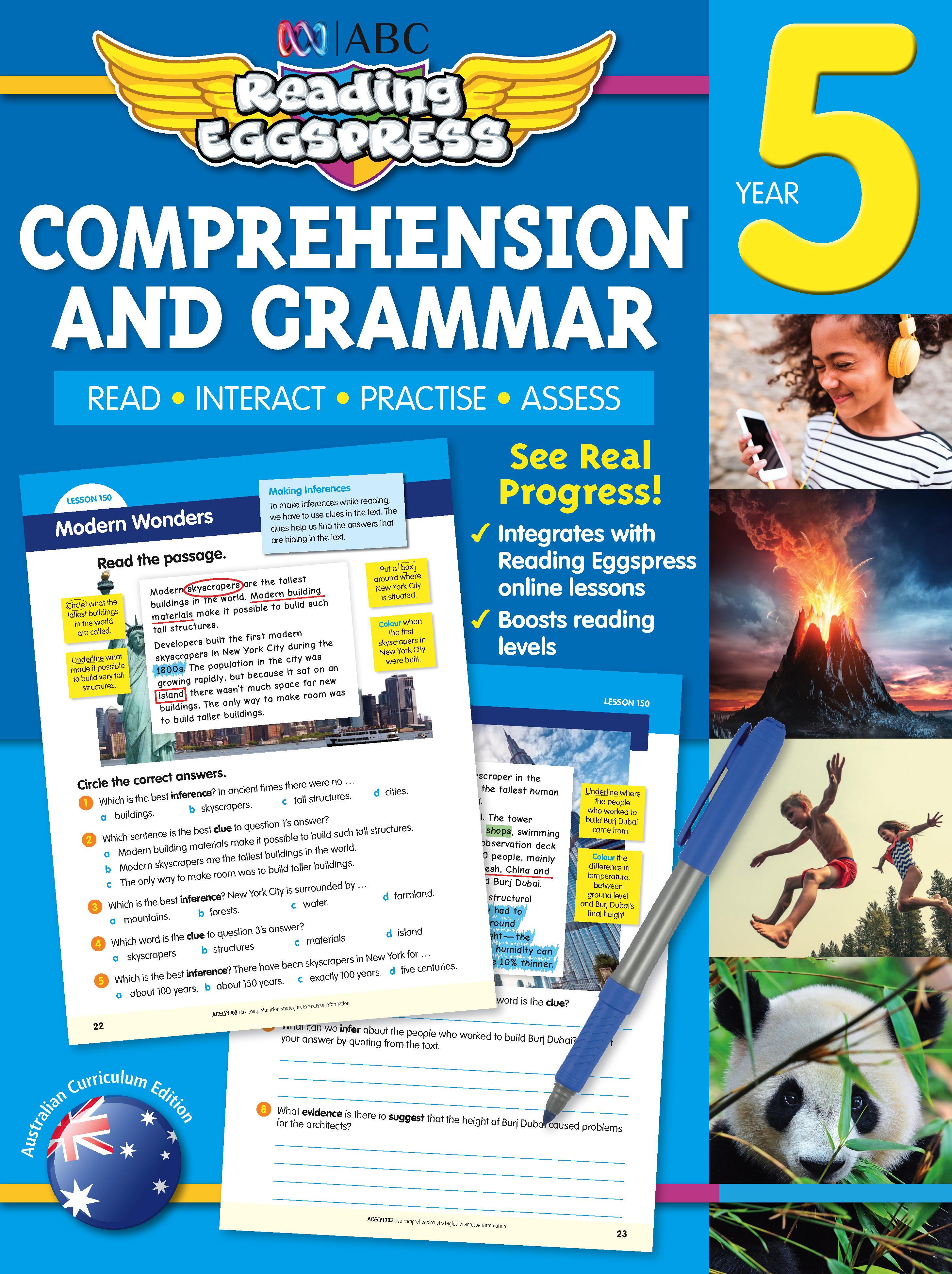ABC Reading Eggspress Comprehension and Grammar Workbook Year 5