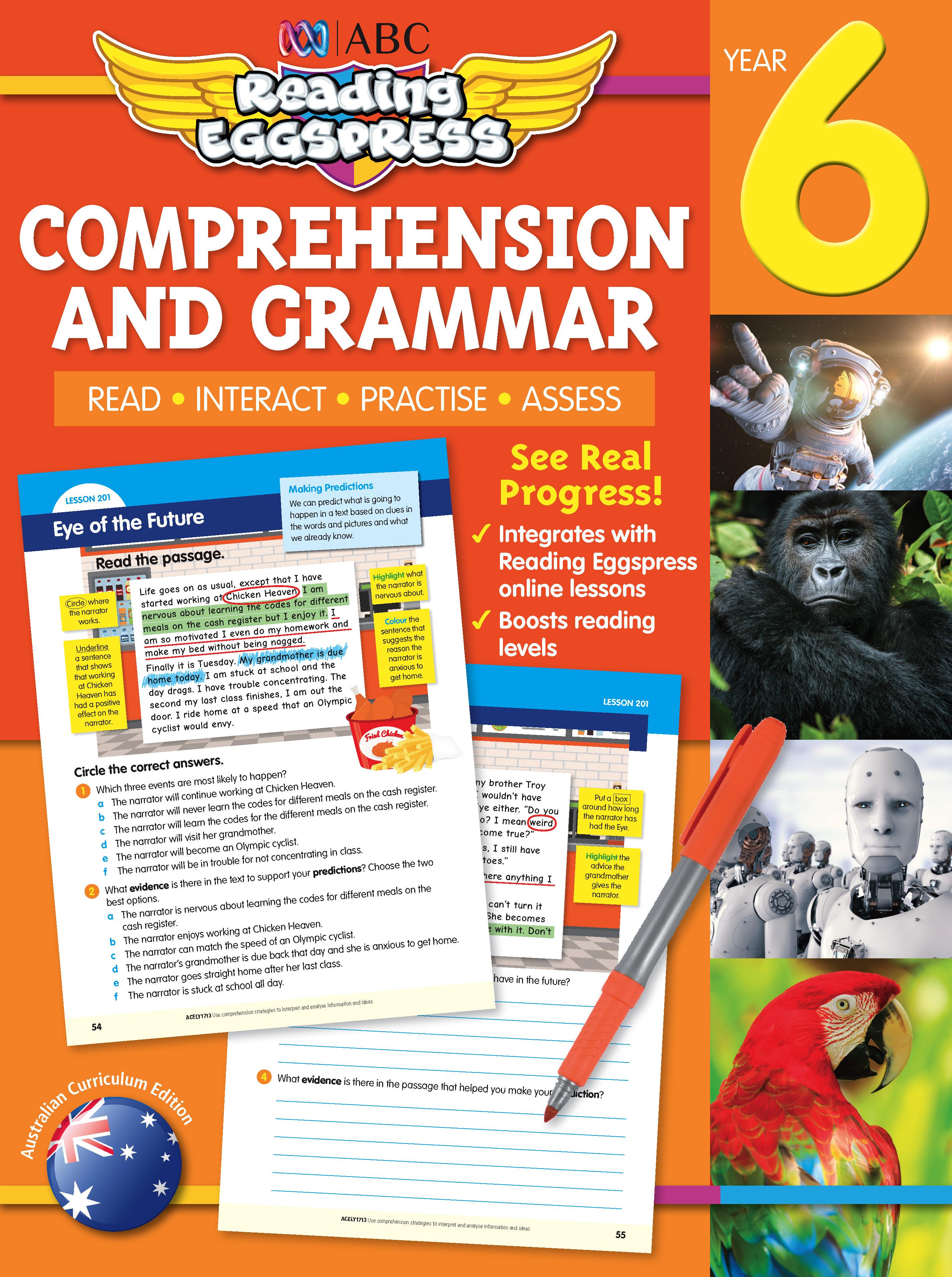 ABC Reading Eggspress Comprehension and Grammar Workbook Year 6