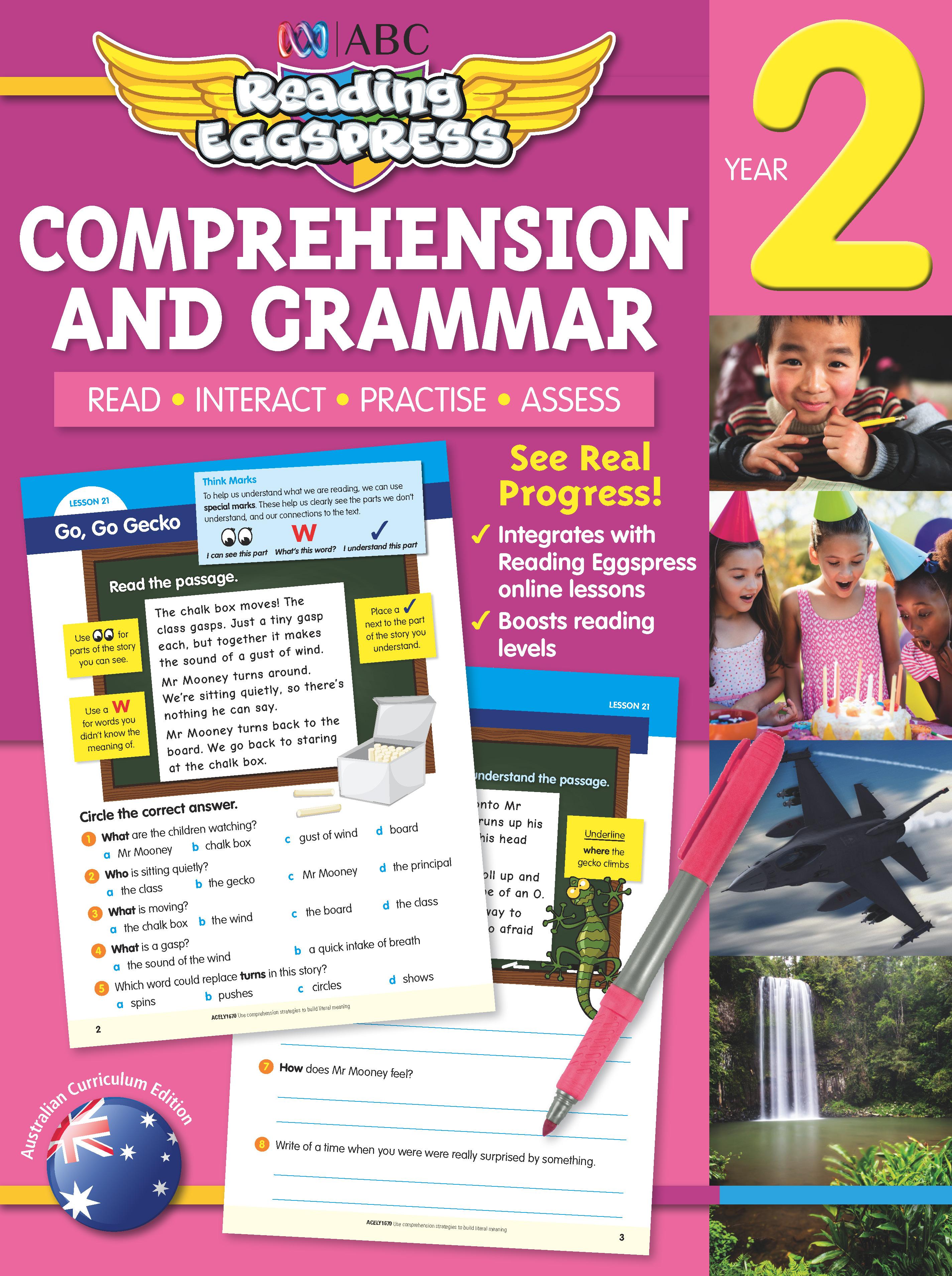 ABC Reading Eggspress Comprehension and Grammar Workbook Year 2