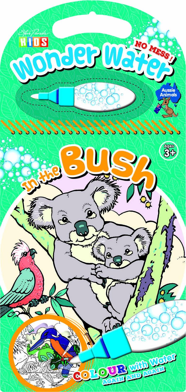 Steve Parish Wonder Water Colouring Book: In the Bush