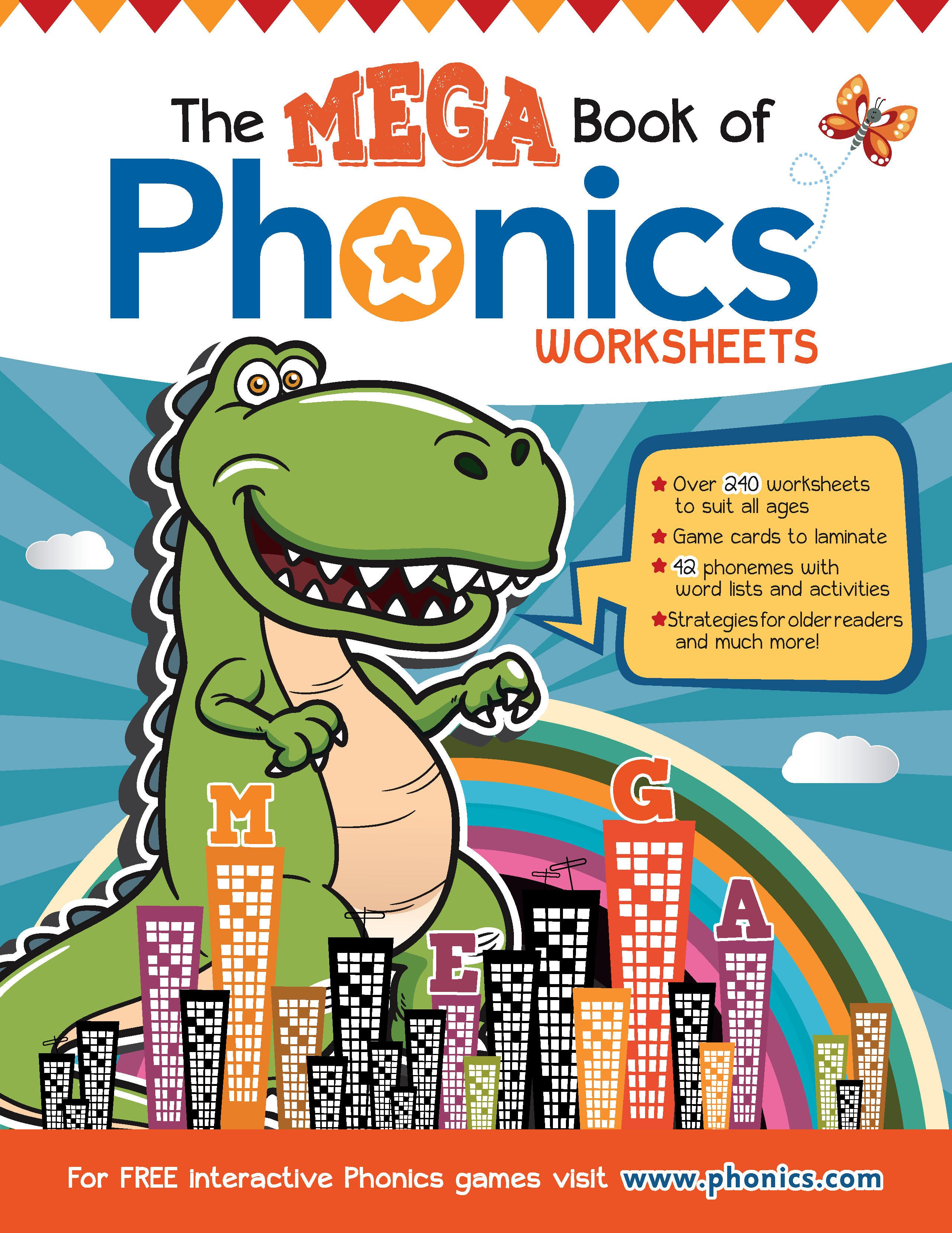 The Mega Book of Phonics Worksheets - Phonics.com